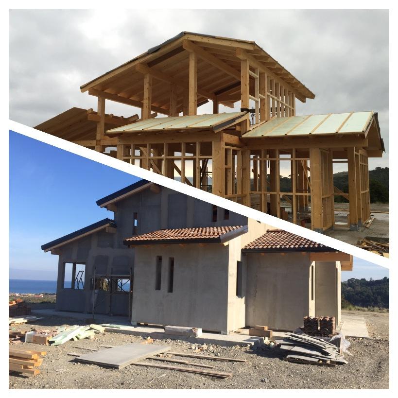 Casa in legno su due livelli